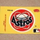 1986 FLEER BASEBALL - Houston Astros Team Logo Yellow Sticker Card