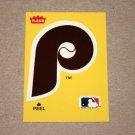 1986 FLEER BASEBALL - Philadelphia Phillies Team Logo Yellow Sticker Card