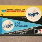 1986 FLEER BASEBALL - Los Angeles Dodgers Team Logo & Pennant Sticker Card