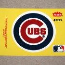 1986 FLEER BASEBALL - Chicago Cubs Team Logo Yellow Sticker Card