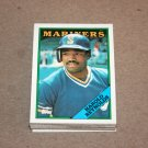 1988 TOPPS BASEBALL - Seattle Mariners Team Set + Traded Series
