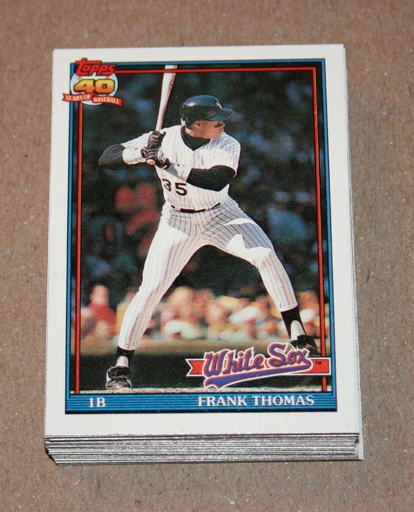 1991 TOPPS BASEBALL - Chicago White Sox Team Set