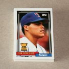 1992 TOPPS BASEBALL - Texas Rangers Team Set + Traded Series