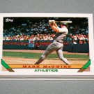 1993 TOPPS BASEBALL - Oakland Athletics Team Set (Series 1 & 2)