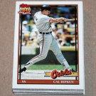 1991 TOPPS BASEBALL - Baltimore Orioles Team Set + Traded Series