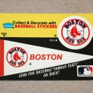 1986 FLEER BASEBALL - Boston Red Sox Team Logo & Pennant Sticker Card