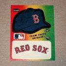 1984 FLEER BASEBALL - Boston Red Sox Team Logo & Hat Sticker Card