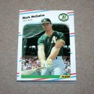 1988 FLEER BASEBALL - Oakland Athletics Team Set