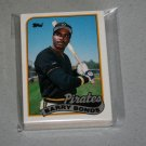 1989 TOPPS BASEBALL - Pittsburgh Pirates Team Set + Traded Series