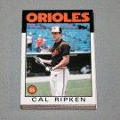 1986 TOPPS BASEBALL - Baltimore Orioles Team Set + Traded Series