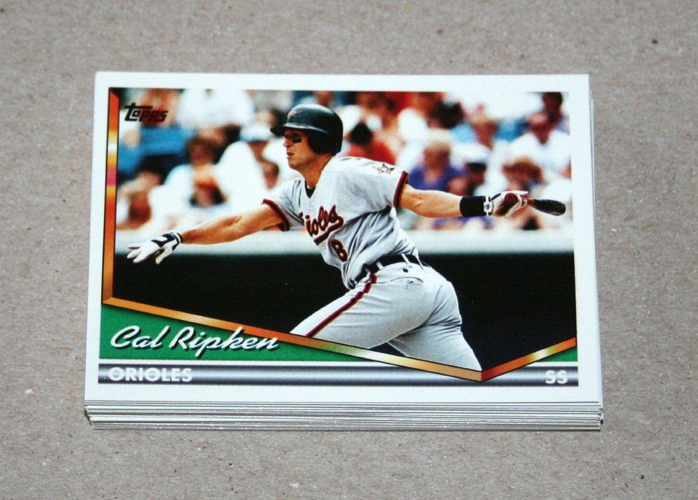 1994 TOPPS BASEBALL - Baltimore Orioles True Team Set with Traded Series