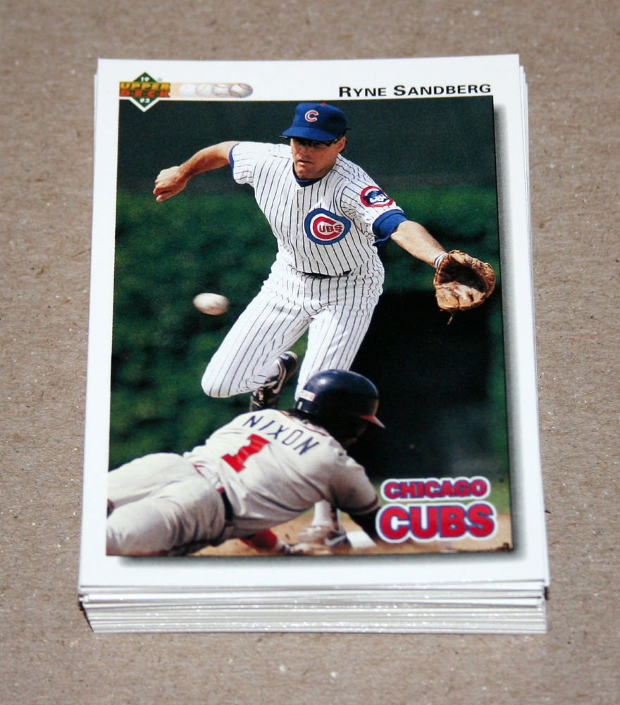 1992 UPPER DECK BASEBALL - Chicago Cubs Team Set + High Number Series