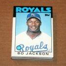 1986 TOPPS BASEBALL - Kansas City Royals Team Set + Traded Series