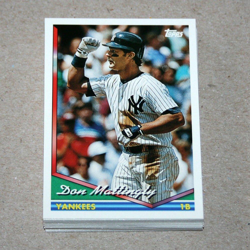 1994 TOPPS BASEBALL - New York Yankees True Team Set with Traded Series