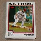 2004 TOPPS BASEBALL - Houston Astros Team Set (Series 1 & 2)