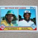 1983 TOPPS BASEBALL - League Leaders Complete Sub-Set