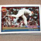 1991 TOPPS BASEBALL - Texas Rangers Team Set + Traded Series