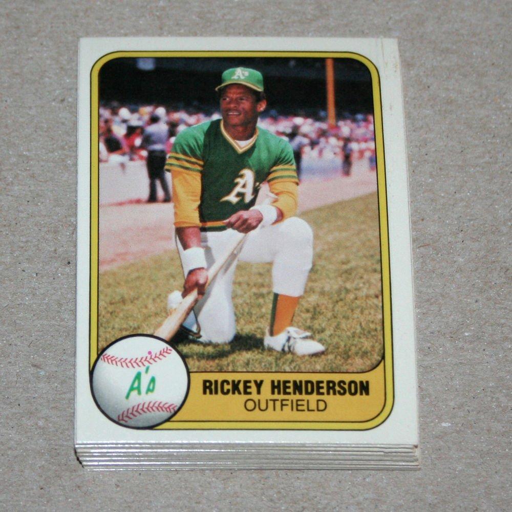 1981 FLEER BASEBALL - Oakland Athletics Team Set