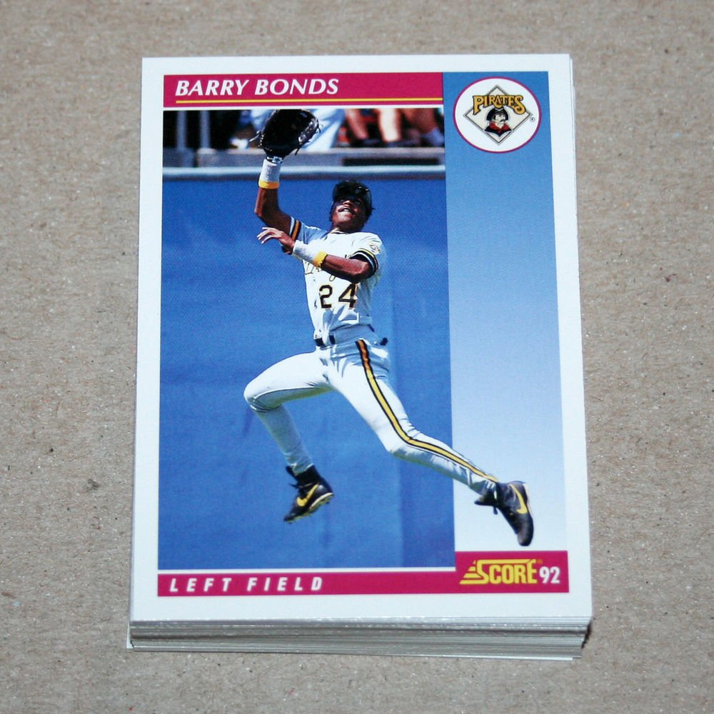 1992 SCORE BASEBALL - Pittsburgh Pirates Team Set + Rookie & Traded Series