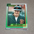 1990 TOPPS BASEBALL - San Francisco Team Set + Traded Series