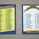 1986 DONRUSS BASEBALL - Checklist Set