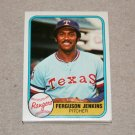1981 FLEER BASEBALL - Texas Rangers Team Set