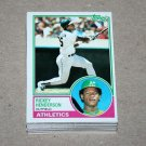 1983 TOPPS BASEBALL - Oakland Athletics Team Set + Traded Series