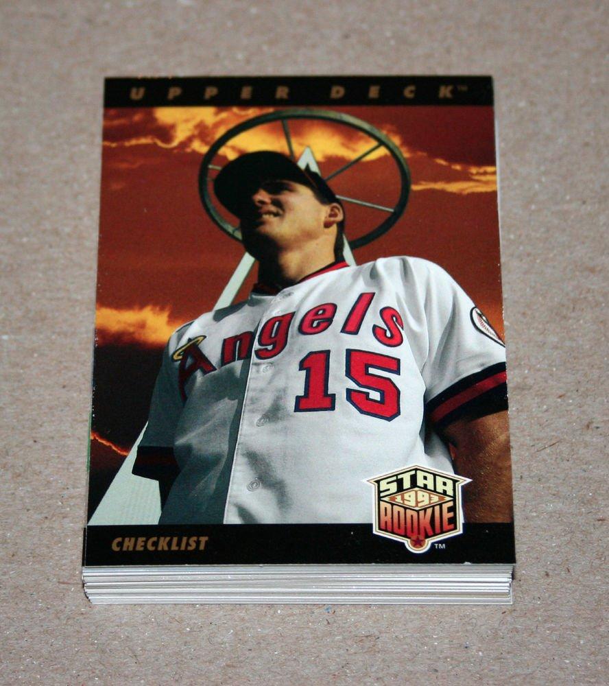 1993 UPPER DECK BASEBALL - California Angels Team Set (Series 1 & 2)