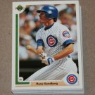 1991 UPPER DECK BASEBALL - Chicago Cubs True Team Set (Low/High/Final)