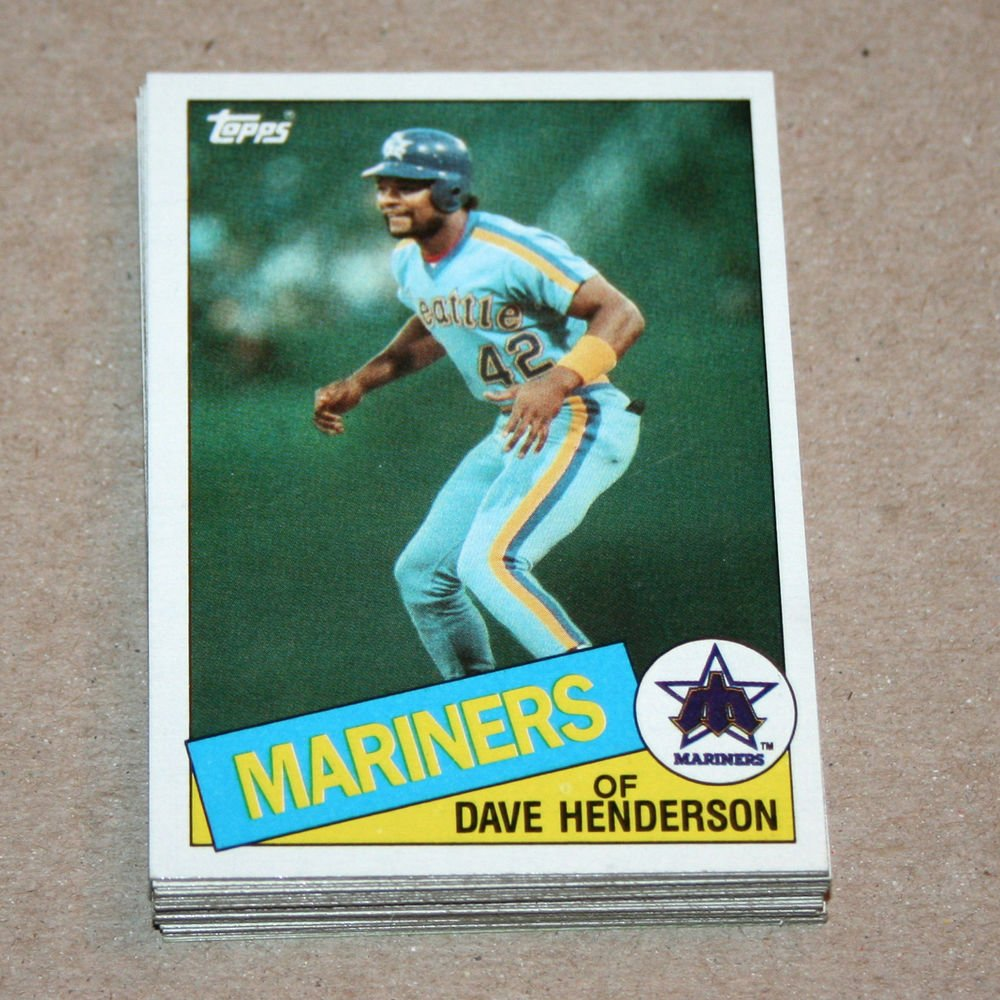 1985 TOPPS BASEBALL - Seattle Mariners Team Set + Traded Series