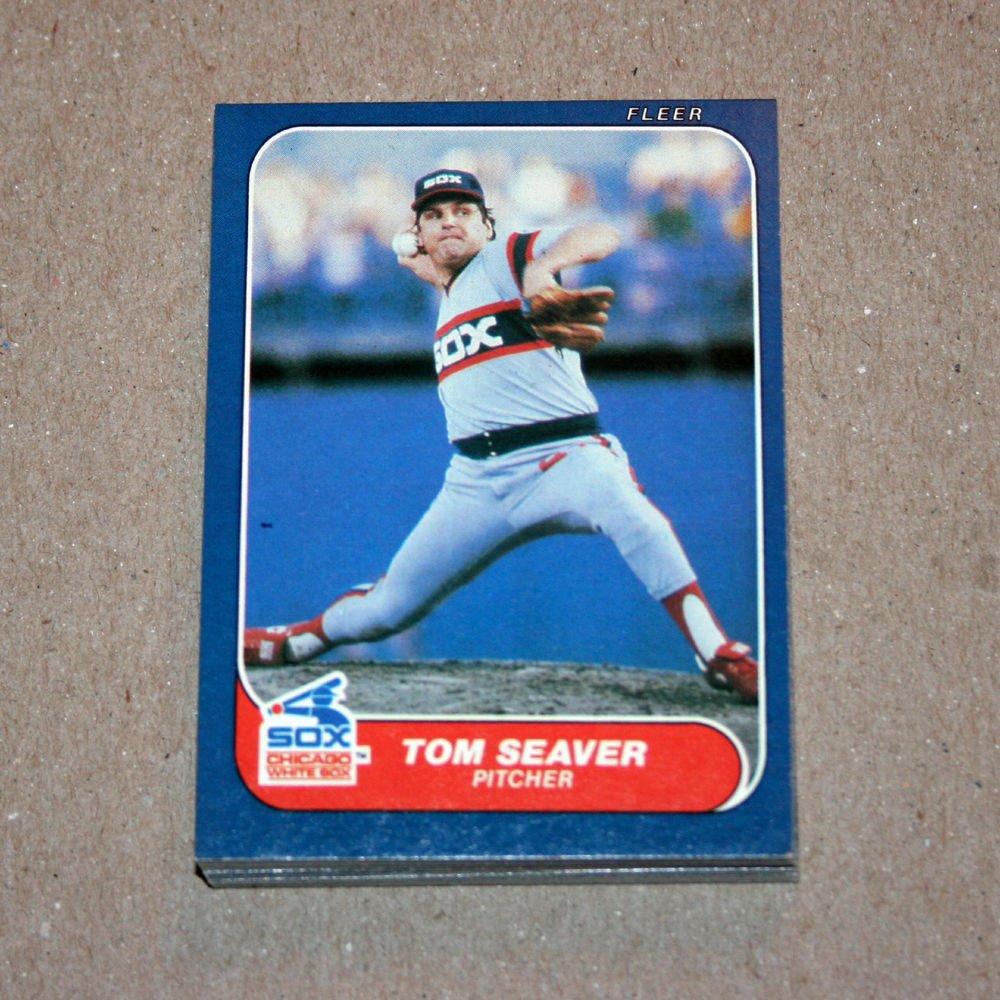 1986 FLEER BASEBALL - Chicago White Sox Team Set