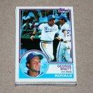 1983 TOPPS BASEBALL - Kansas City Royals Team Set + Traded Series
