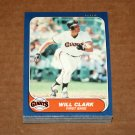1986 FLEER BASEBALL - San Francisco Giants Team Set + Update Series
