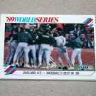 1990 FLEER BASEBALL - Oakland A's vs San Francisco Giants: World Series Sub-Set