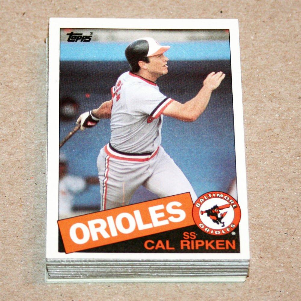 1985 TOPPS BASEBALL - Baltimore Orioles Team Set + Traded Series