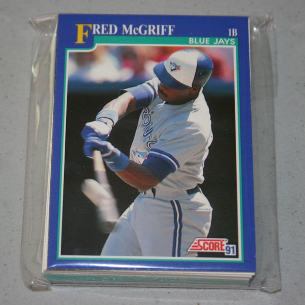 1991 SCORE BASEBALL - Toronto Blue Jays Team Set + Rookie & Traded Series