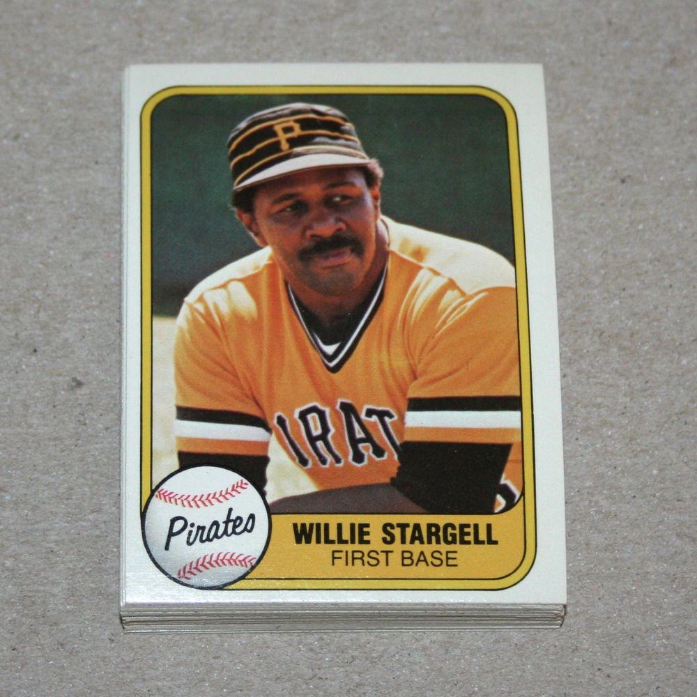 1981 FLEER BASEBALL - Pittsburgh Pirates Team Set