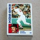 1984 TOPPS BASEBALL - Boston Red Sox Team Set + Traded Series