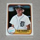 1981 FLEER BASEBALL - Detroit Tigers Team Set