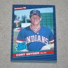 1986 DONRUSS BASEBALL - Cleveland Indians Team Set