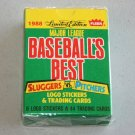 "1988 FLEER BASEBALLS BEST ""Sluggers vs Pitchers"" Factory Sealed Complete Set"