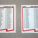 1990 FLEER BASEBALL - Checklist Set + Update Series