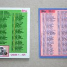 1984 TOPPS BASEBALL - Checklist Set + Traded Series