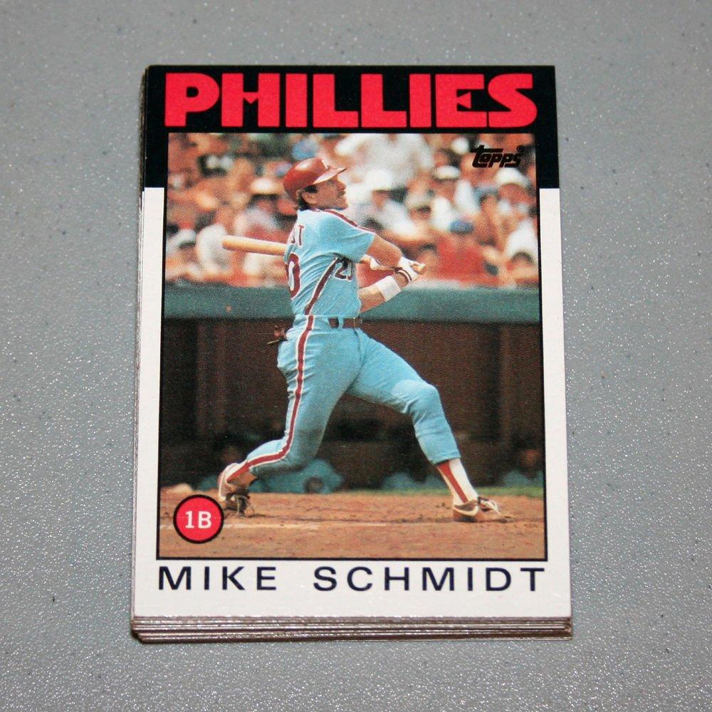 1986 TOPPS BASEBALL - Philadelphia Phillies Team Set + Traded Series
