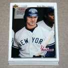 1992 UPPER DECK BASEBALL - New York Yankees Team Set + High Number Series