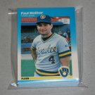 1987 FLEER BASEBALL - Milwaukee Brewers Team Set + Update Series