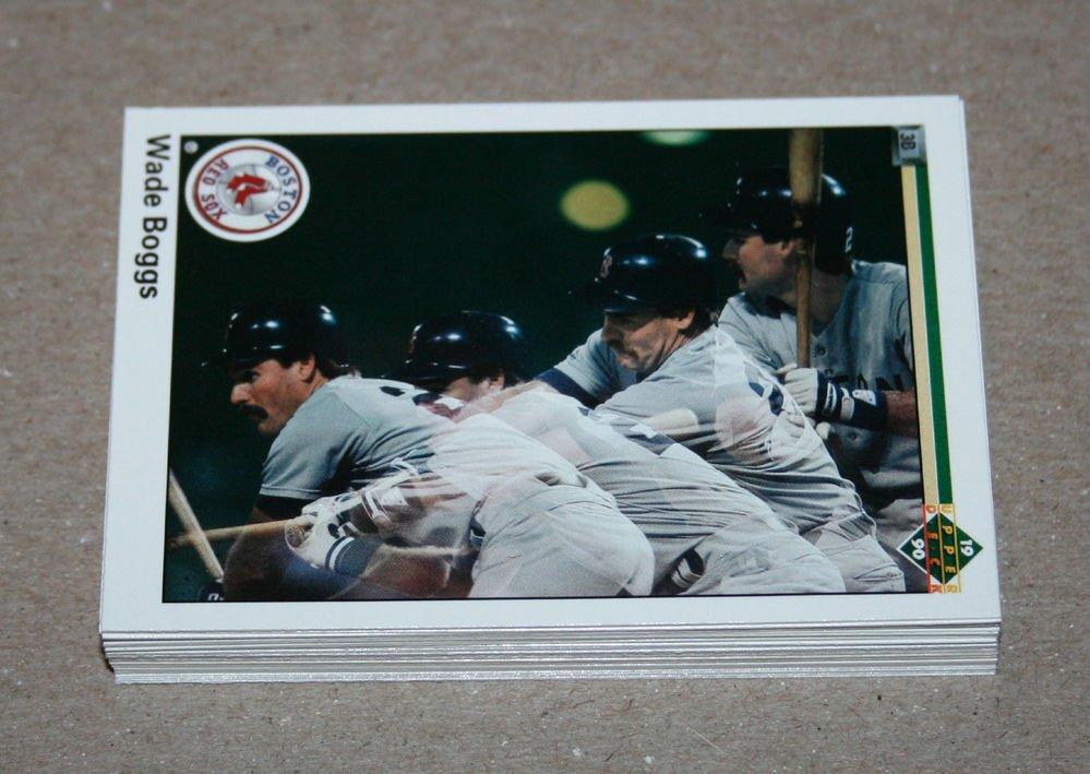 1990 UPPER DECK BASEBALL - Boston Red Sox Team Set + High Number Series