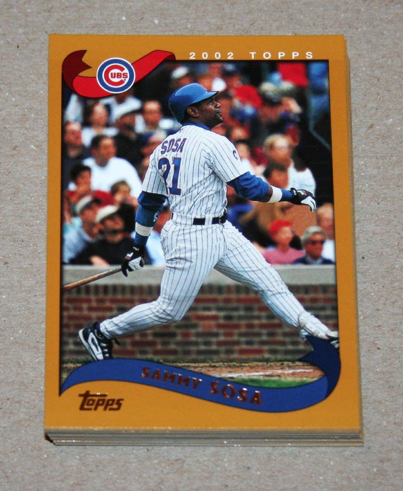 2002 TOPPS BASEBALL - Chicago Cubs Team Set (Series 1 & 2)