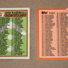 1988 TOPPS BASEBALL - Checklist Set + Traded Series