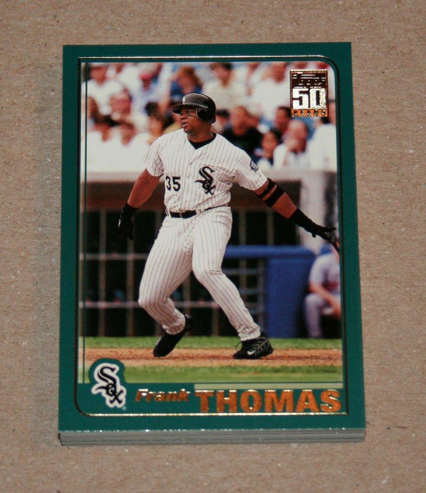 2001 TOPPS BASEBALL - Chicago White Sox Team Set (Series 1 & 2)